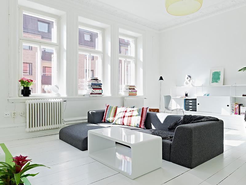 Mieszkanie w stylu skandynawskim design your life for Departamentos decoracion moderna