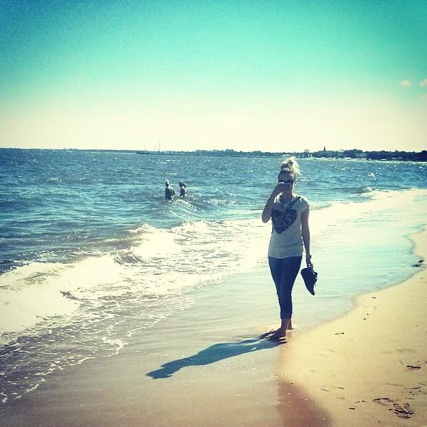 Na plaży w Gdyni