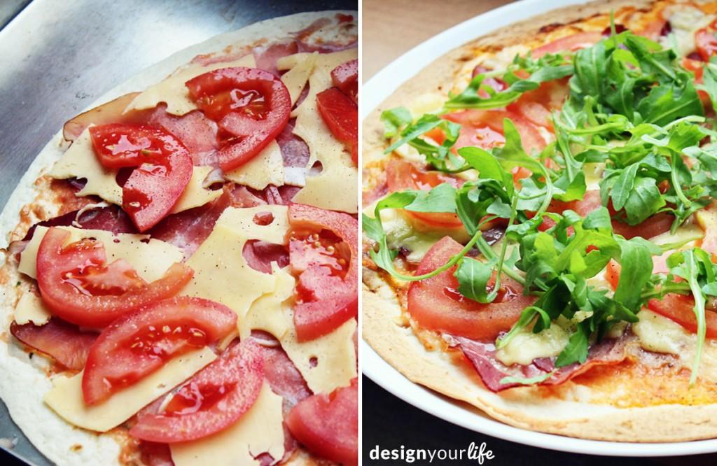Pizza na tortilli