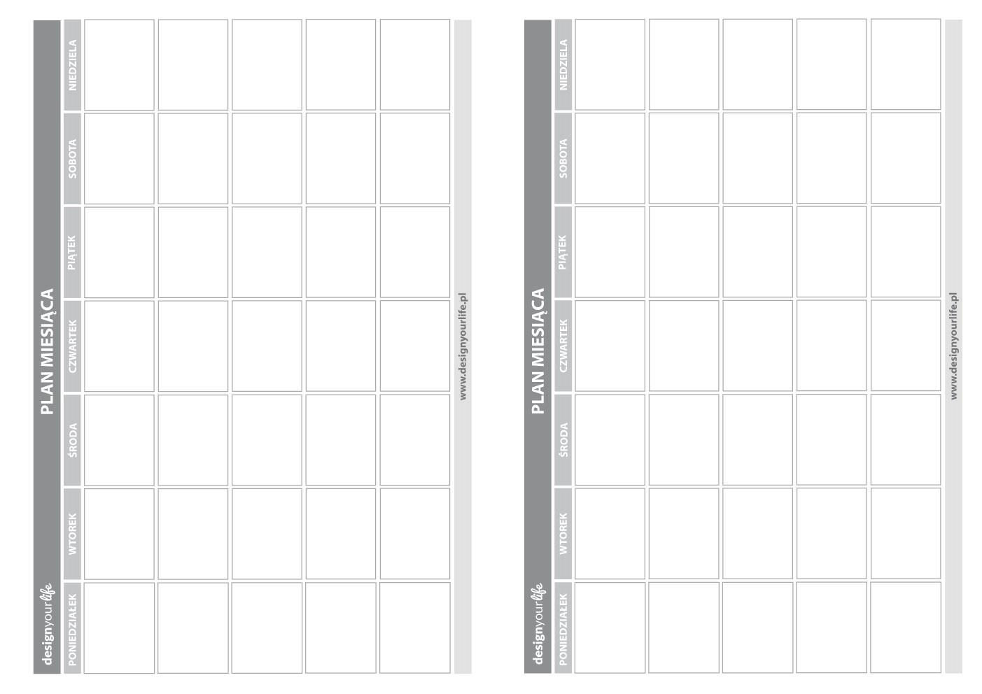 Diy organizer kalendarz do wydrukowania nowa wersja for Plan organizer