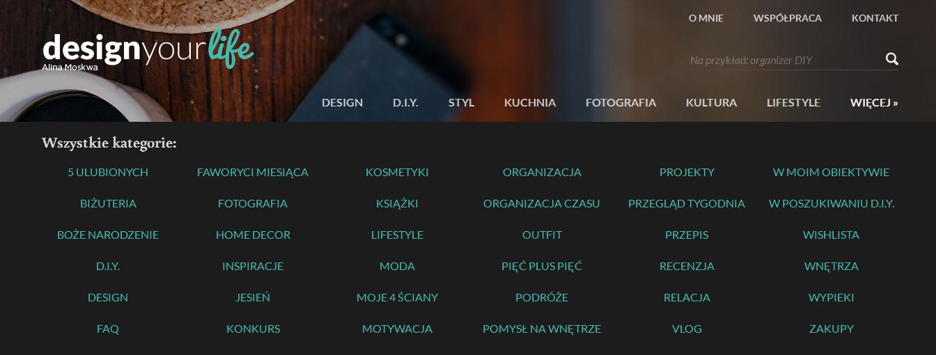 kategorie na Design Your Life