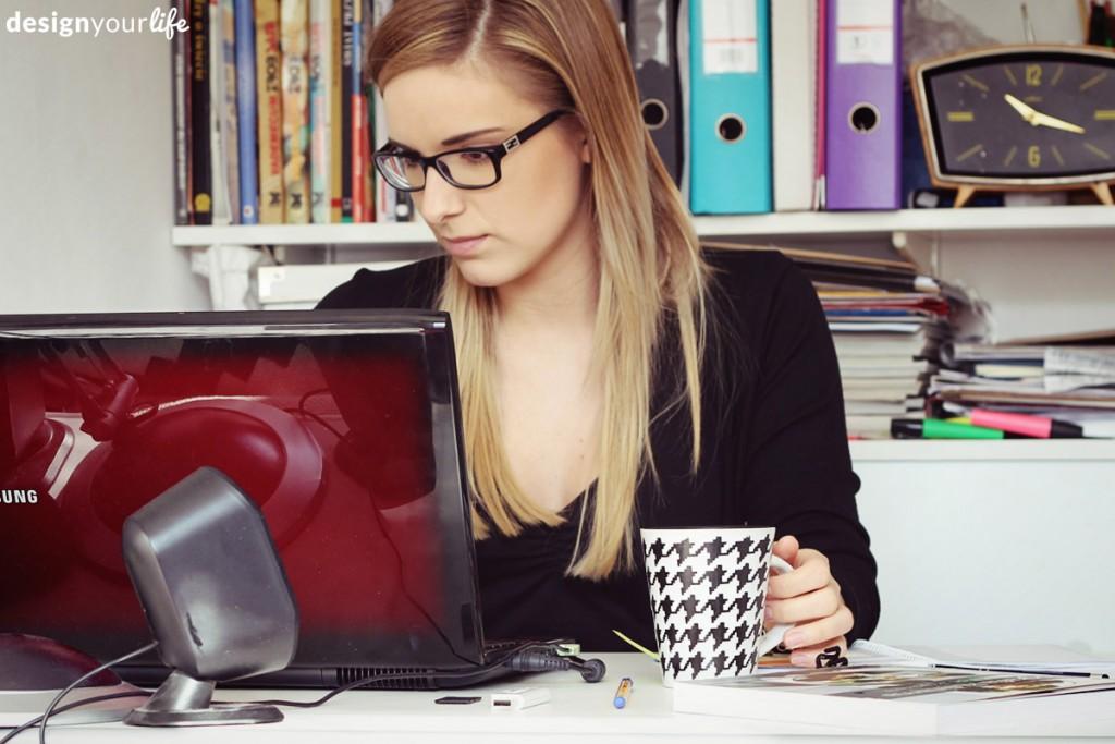 Alina przy pracy ;)