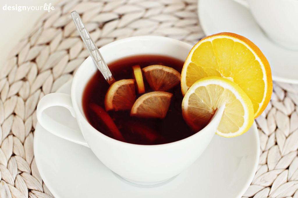 Przepis na rozgrzewającą herbatę - Designyourlife.pl