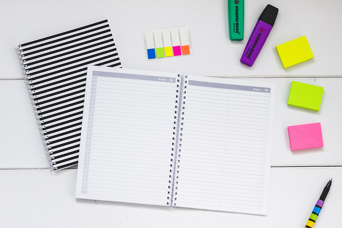 Organizer Design Your Life - notatki