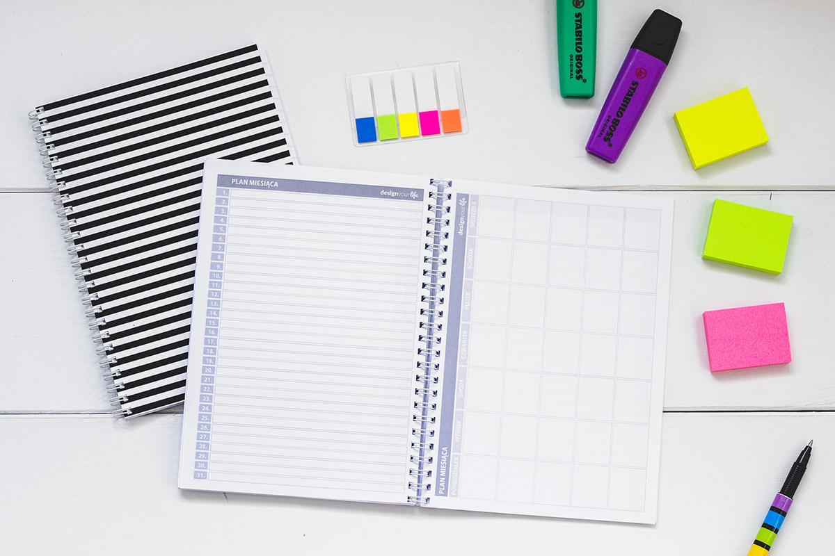 Organizer Design Your Life - plan miesiąca