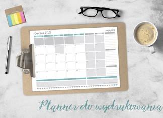 Planner do wydrukowania na styczeń 2016