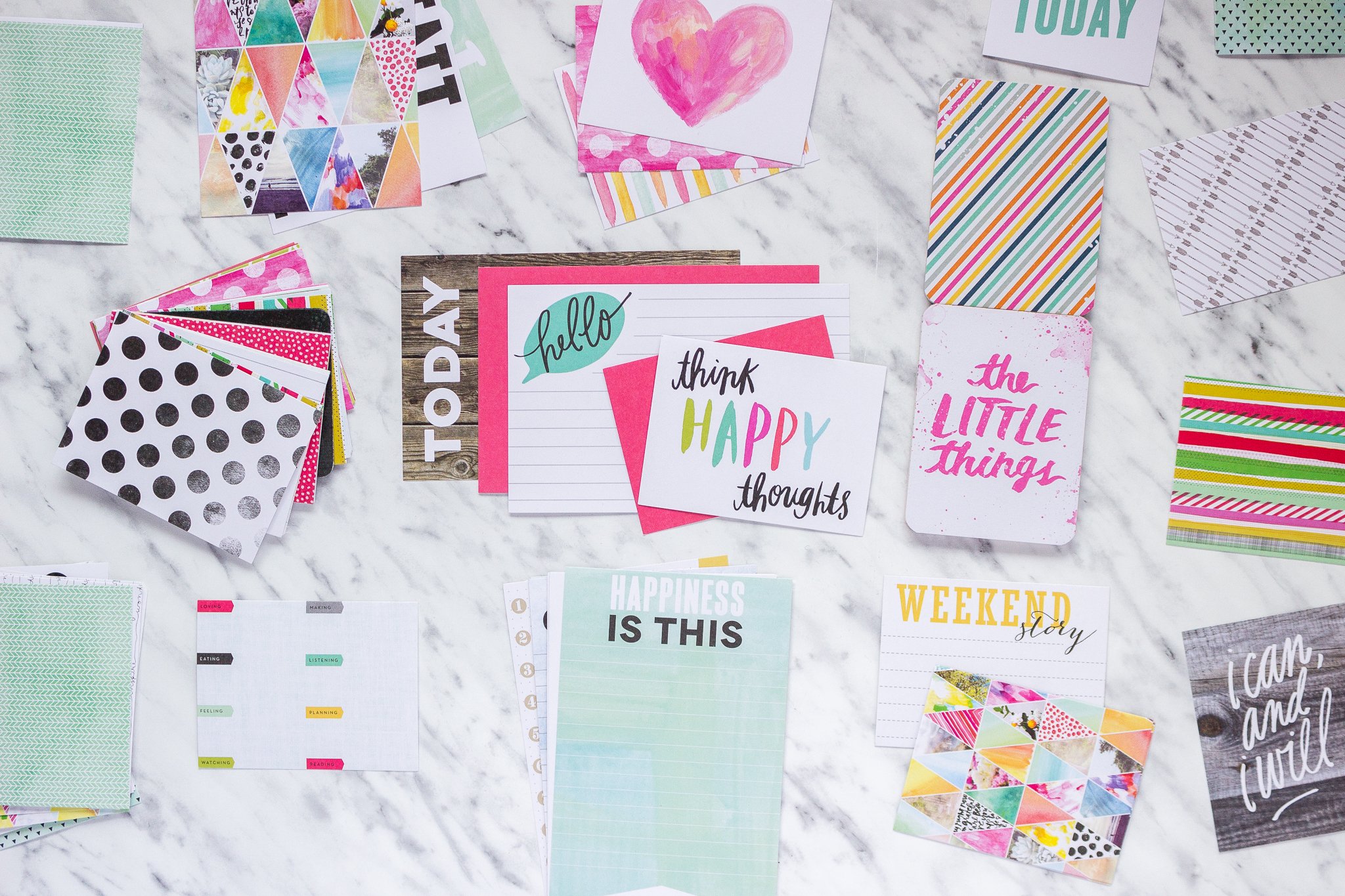 Karty Project Life journaling