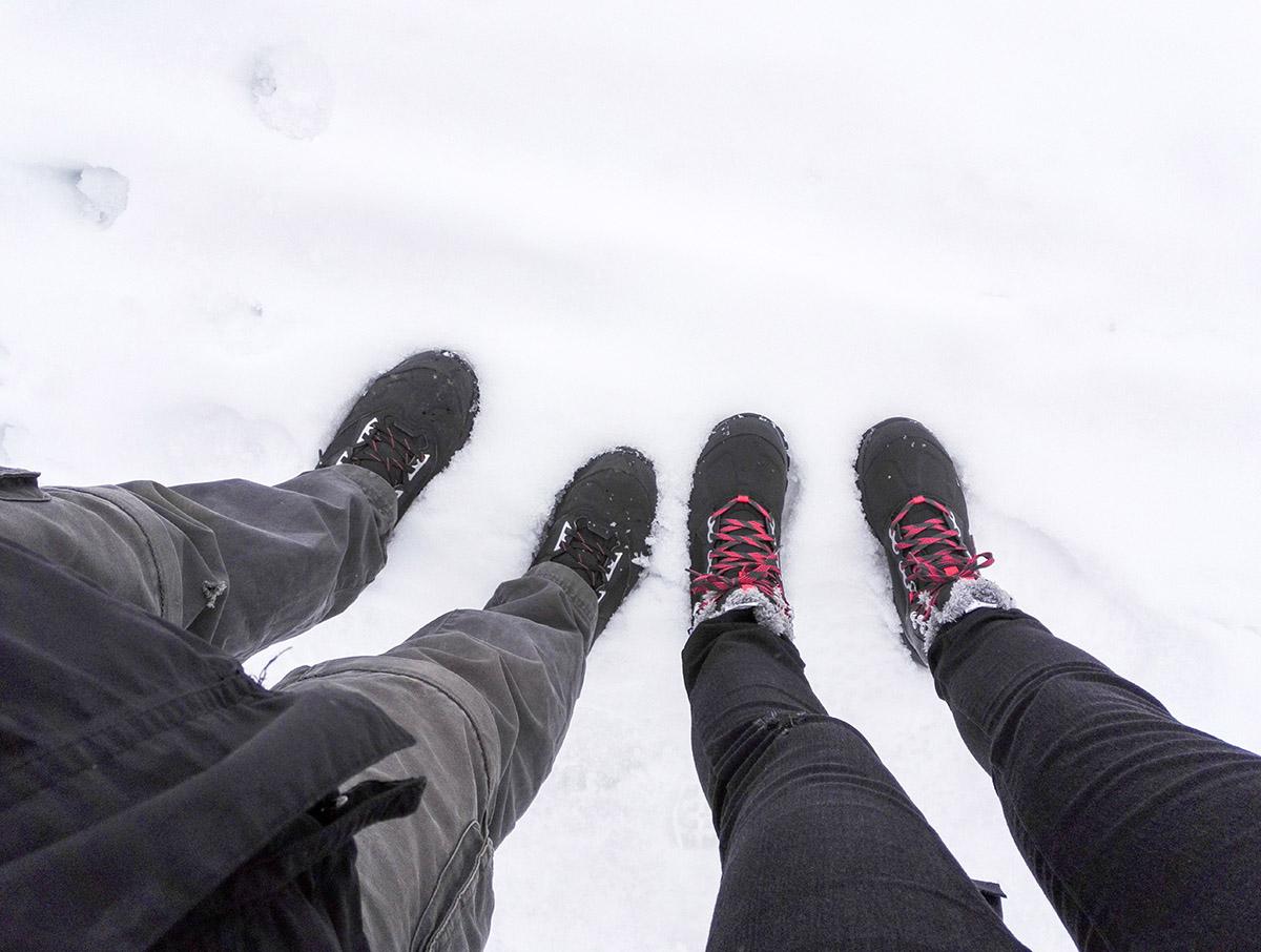 Śnieg w Bieszczadach