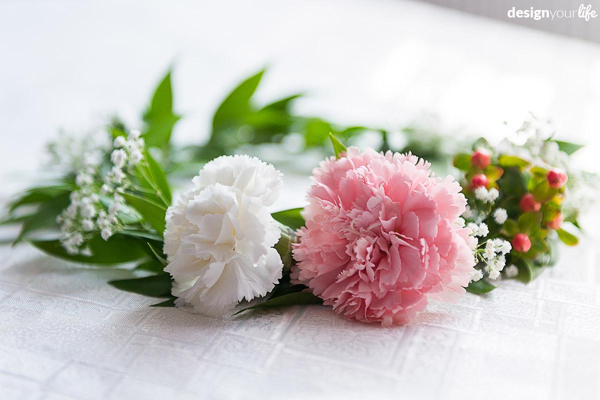 Wianek ślubny z kwiatów