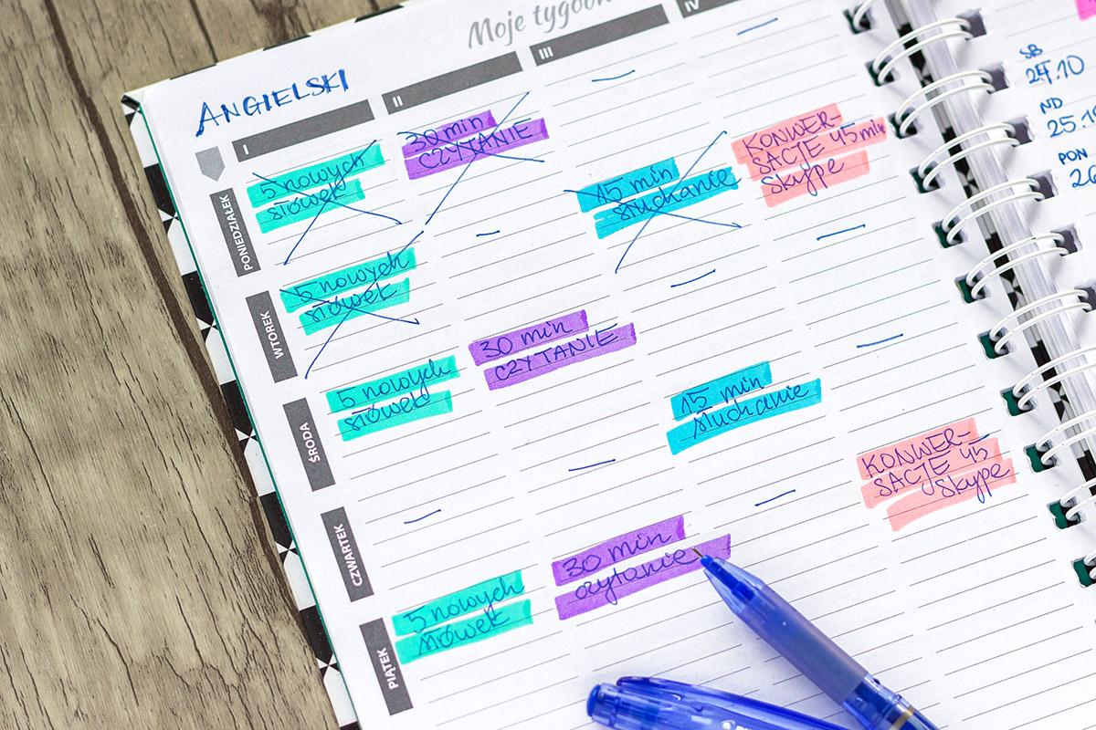 Tygodniowy plan nauki