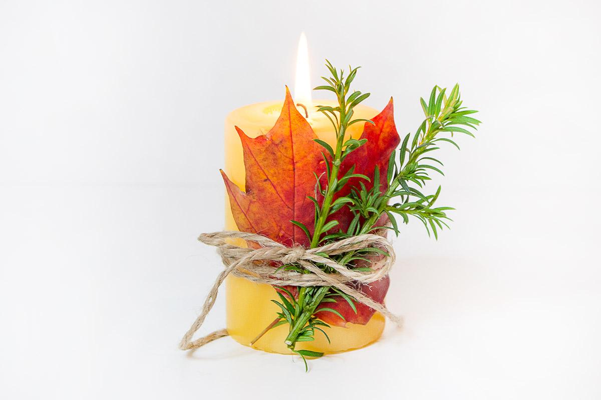 Jesienny DIY świecznik