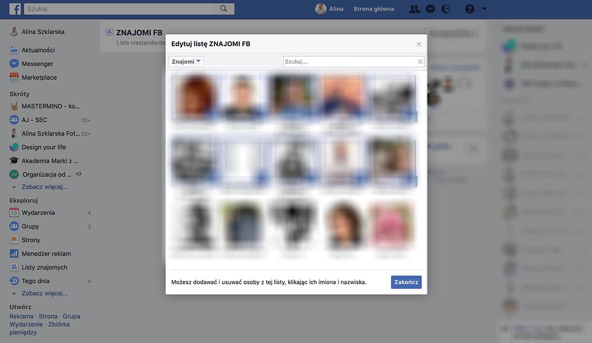Porządek na Facebooku